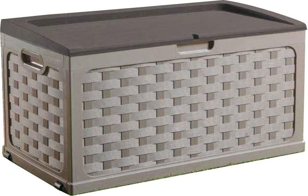 Cassapanca Resina Da Giardino.Cassapanca Da Esterno Box In Resina Con Seduta Kg 200 Cm 117x56x58h