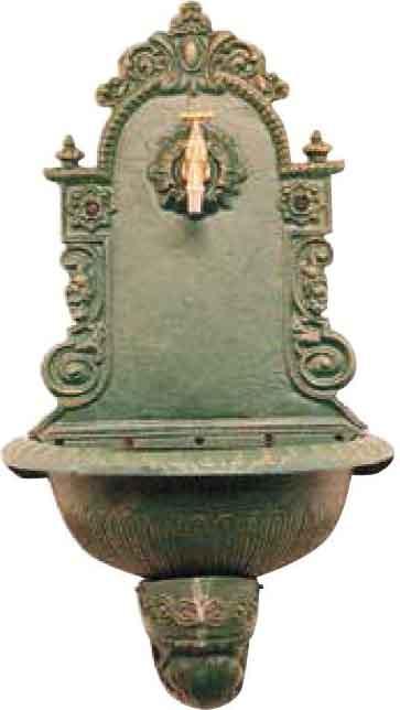Fontana Decorativa da Giardino Fontana Ghisa Parete Arredo Giardino Prezzoforte - 78442