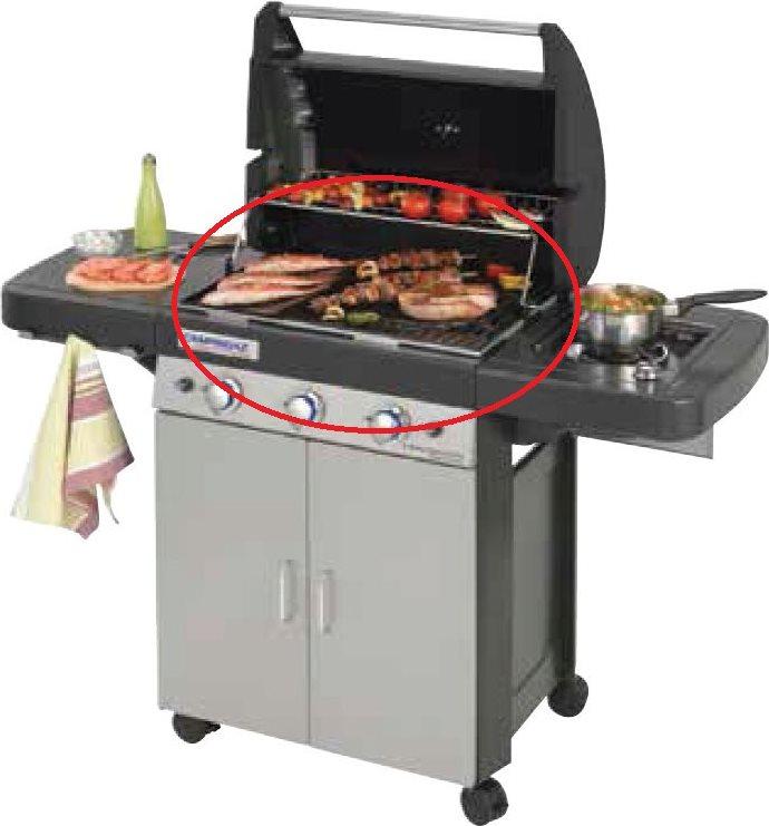 GIARDINI DEL RE Cestello Griglia Roccia Lavica Barbecue Campingaz Serie 3