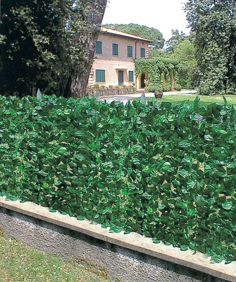 Siepe artificiale sempreverde lauro 300x100 arredo for Arelle ombreggianti