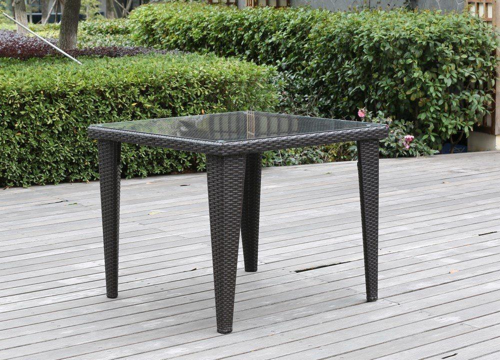 Tavolo da giardino in rattan 90x90x75 arredo giardino e - Tavolo da giardino rattan ...