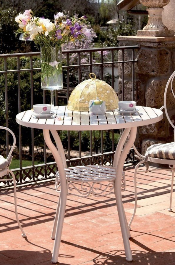 Mobili Giardino In Ferro.Tavolo Da Giardino Ferro Battuto Naomi Arredo Giardino E Tavoli Da