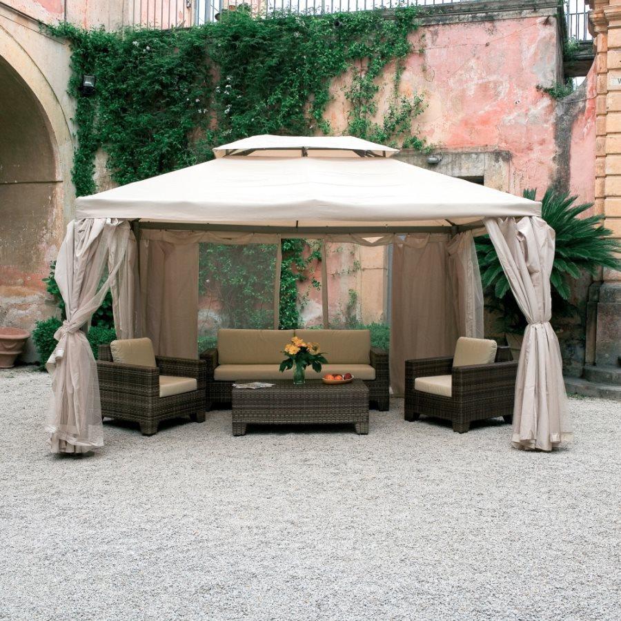 Gazebo da giardino 4x4 in alluminio sahara prezzoforte - Giardini del re ...
