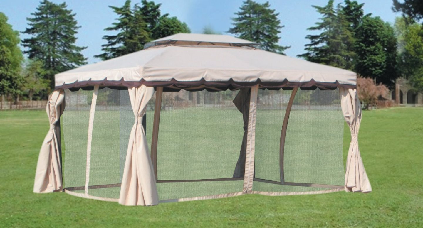 Giardini del Re TELO MOSCHIERA ADVENTURE 3X4 Set 4 Teli Moschiera per Gazebo 3x4 mt. Adventure zanzariera