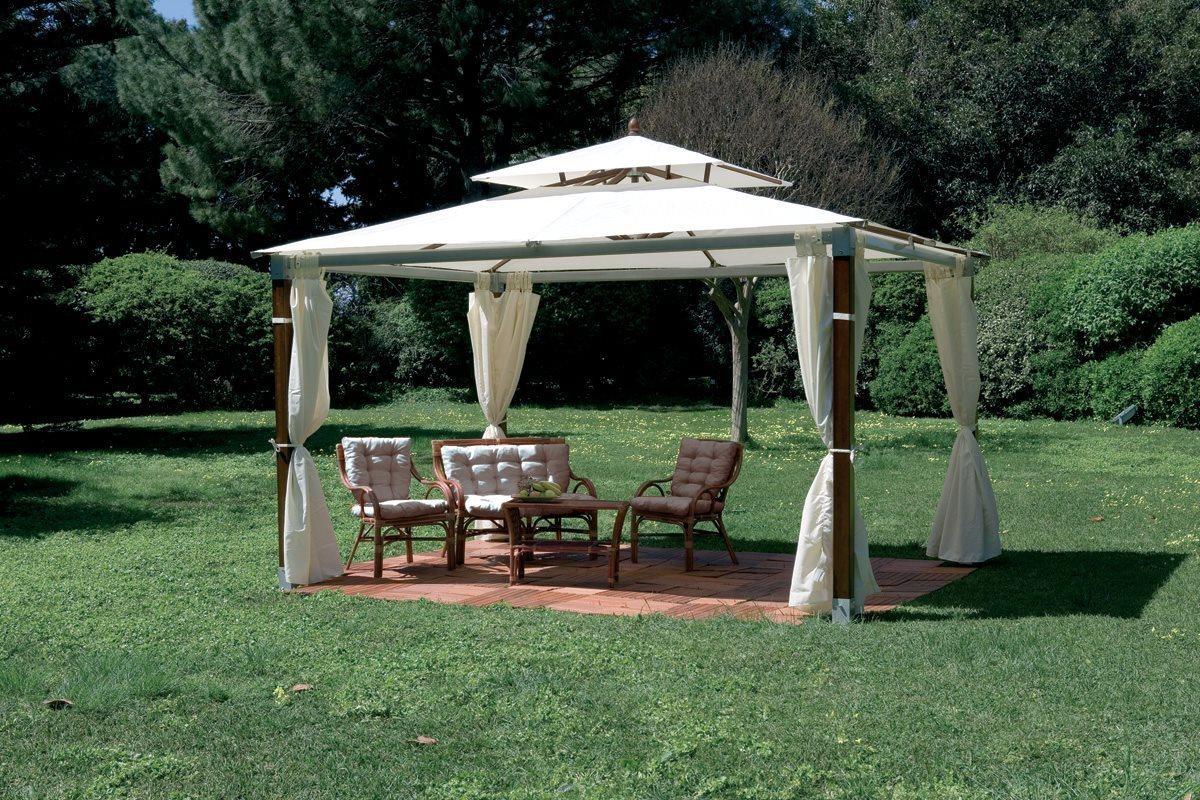 gazebo in legno da giardino 3x4 77498. Black Bedroom Furniture Sets. Home Design Ideas