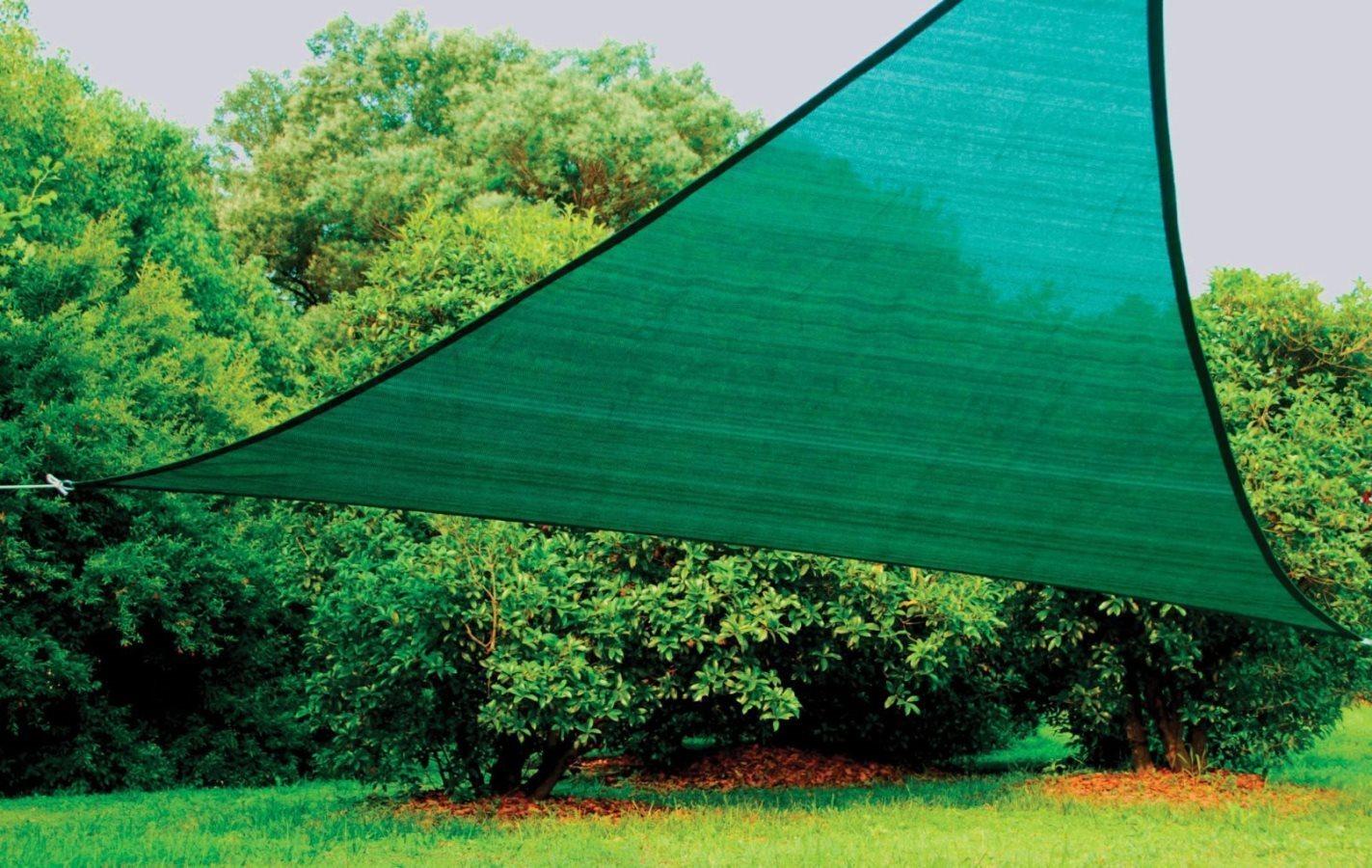 Vela ombreggiante triangolare 5x5x5 arredo giardino e - Giardini del re ...