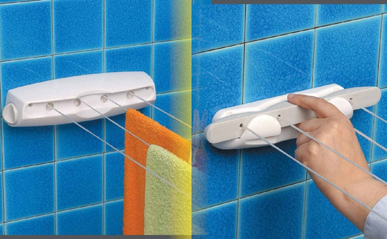 Gimi stendibiancheria da parete con fili estendibile da - Stendibiancheria da bagno ...