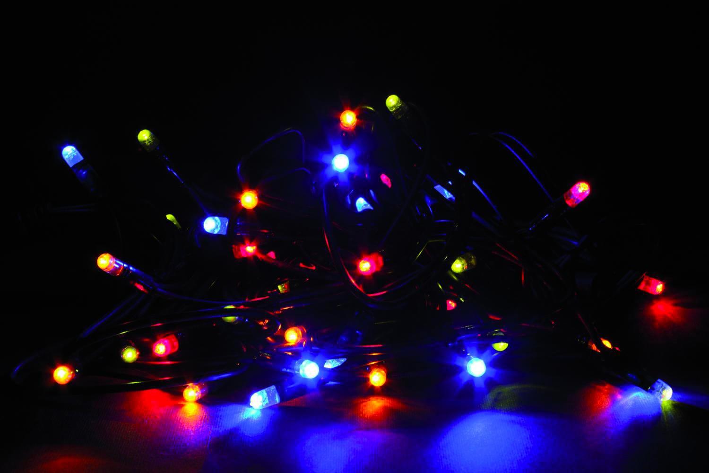 Giocoplast luci natalizie 40 lucciolone led multicolore 230 volt per