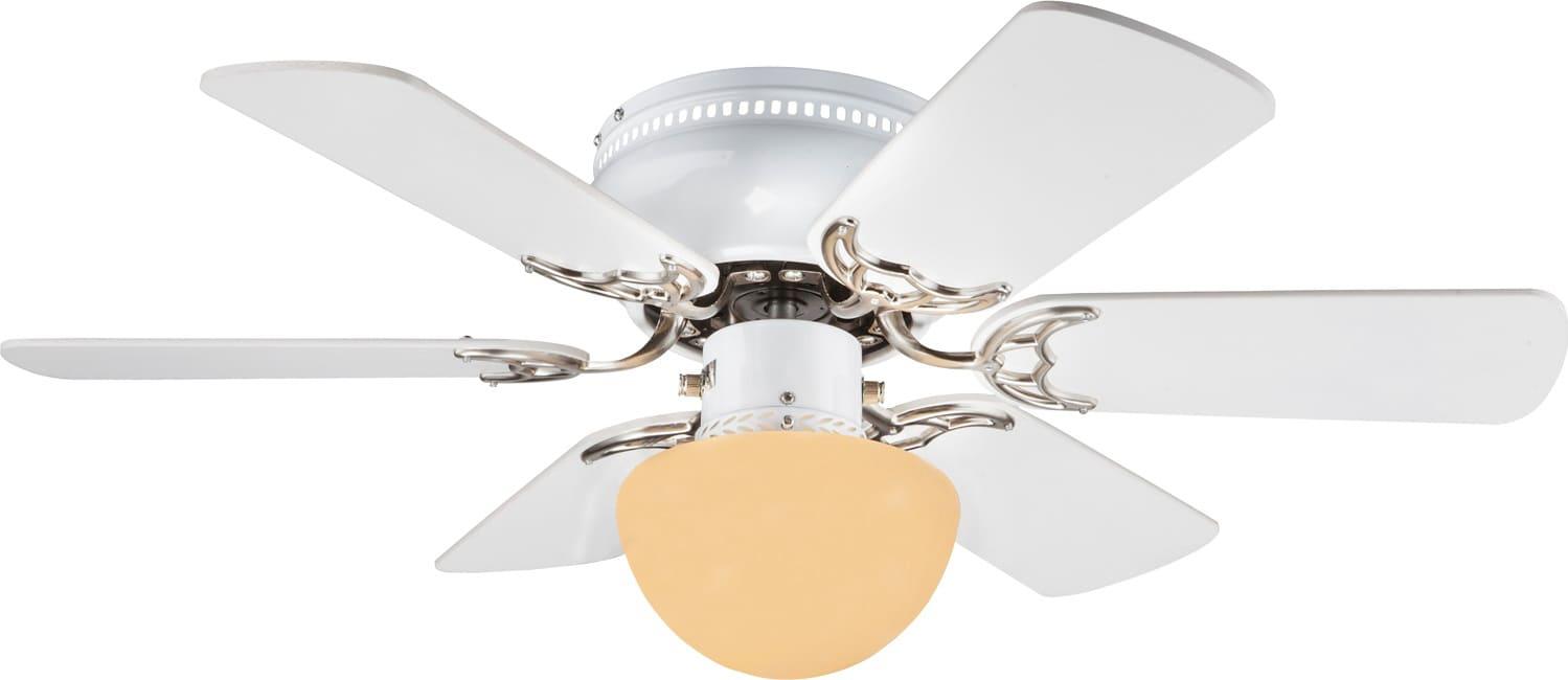 Globo lighting ventilatore da soffitto con luce 6 pale for Ventilatori a soffitto brico