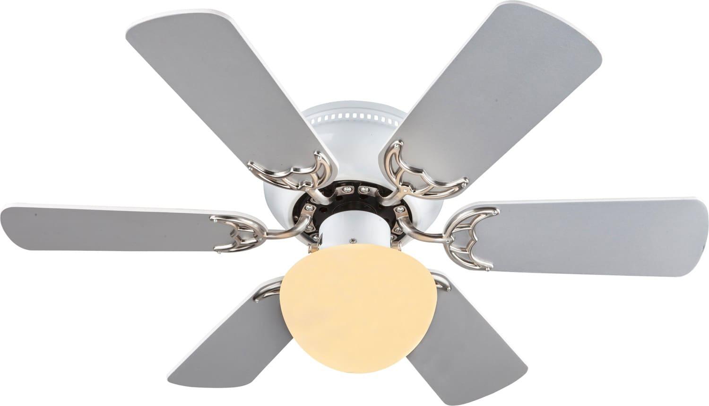 Globo lighting ventilatore da soffitto con luce 6 pale for Lampadario a pale brico
