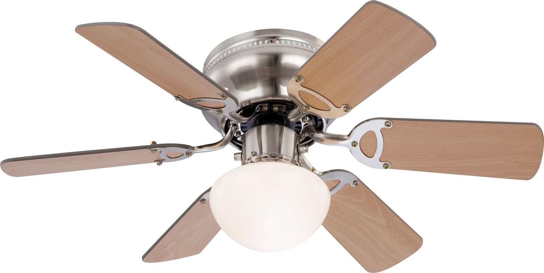 Globo lighting ventilatore da soffitto con luce 6 pale lampadario ø