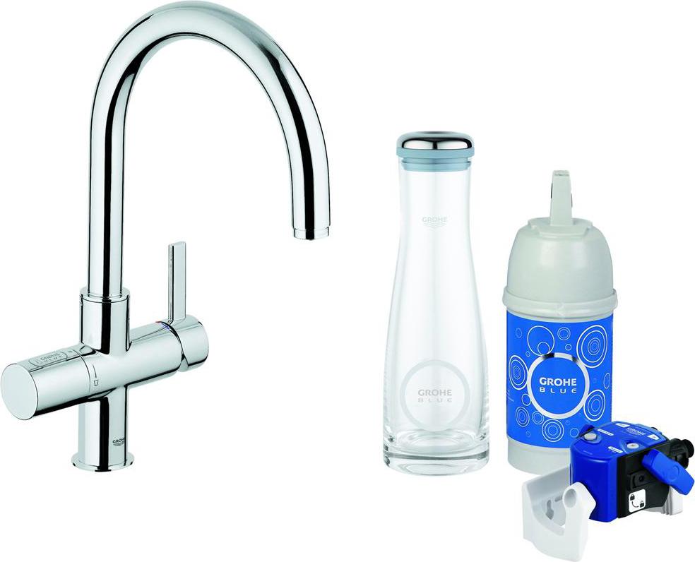 Grohe miscelatore cucina rubinetto monocomando colore cromo blue 33249000 cromato 32403 - Miscelatore cucina perde acqua ...