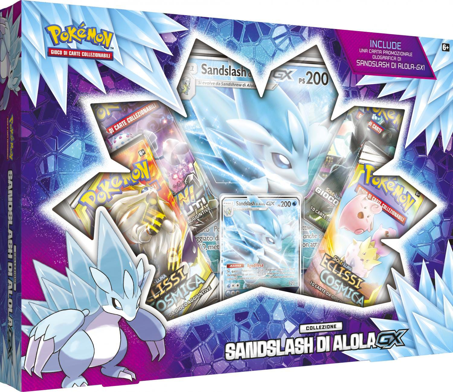 Gamevision PK60109ISINGPZ Carte Gx Box Sandslash di Alola Pokemon