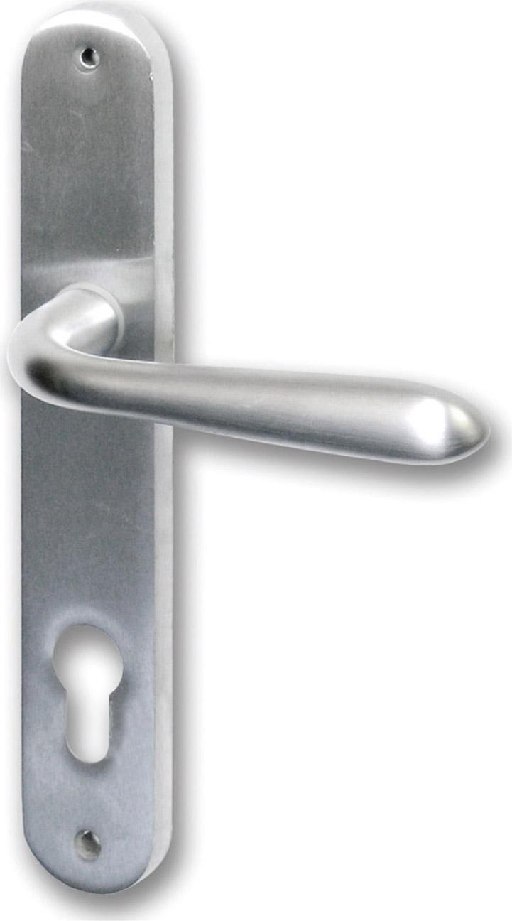 GHIDINI Maniglia porta interna Placca foro Yale Zalor Cromo satinato SerieGM05