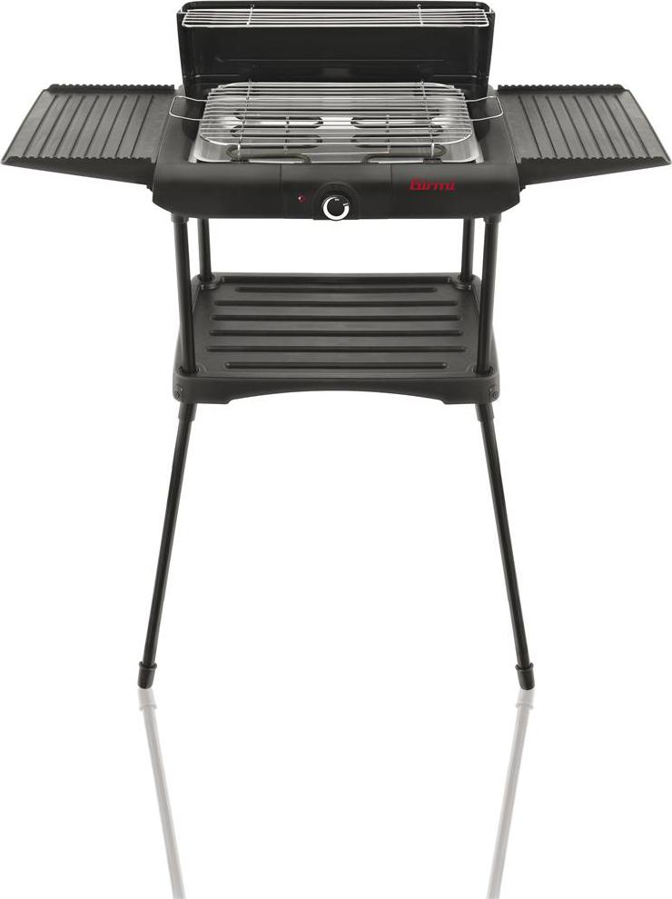 girmi barbecue elettrico 2 griglie da esterno bbq da giardino 27x36 cm potenza 1900 watt con