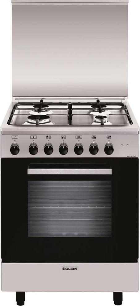Cucina A Gas Glem Gas A664Mi6 Forno Elettrico Ventilato 60X60 ...