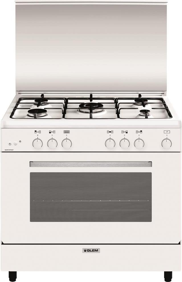 Cucina a gas glem gas a965gx forno a gas 90x60 - Cucina a gas glem ...