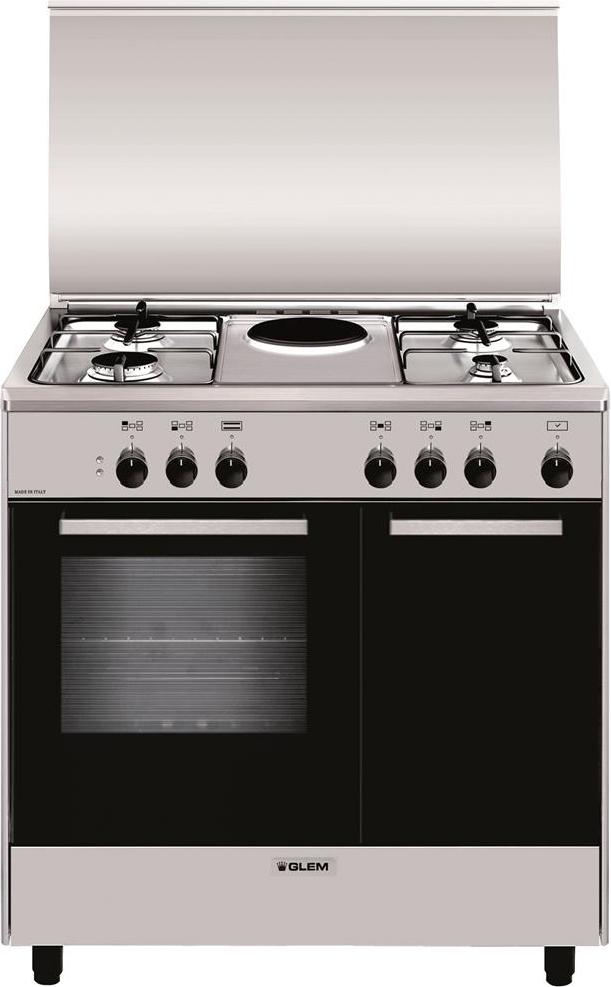 Cucina a gas glem gas ar856ei forno elettrico 80x50 - Cucina a gas glem ...