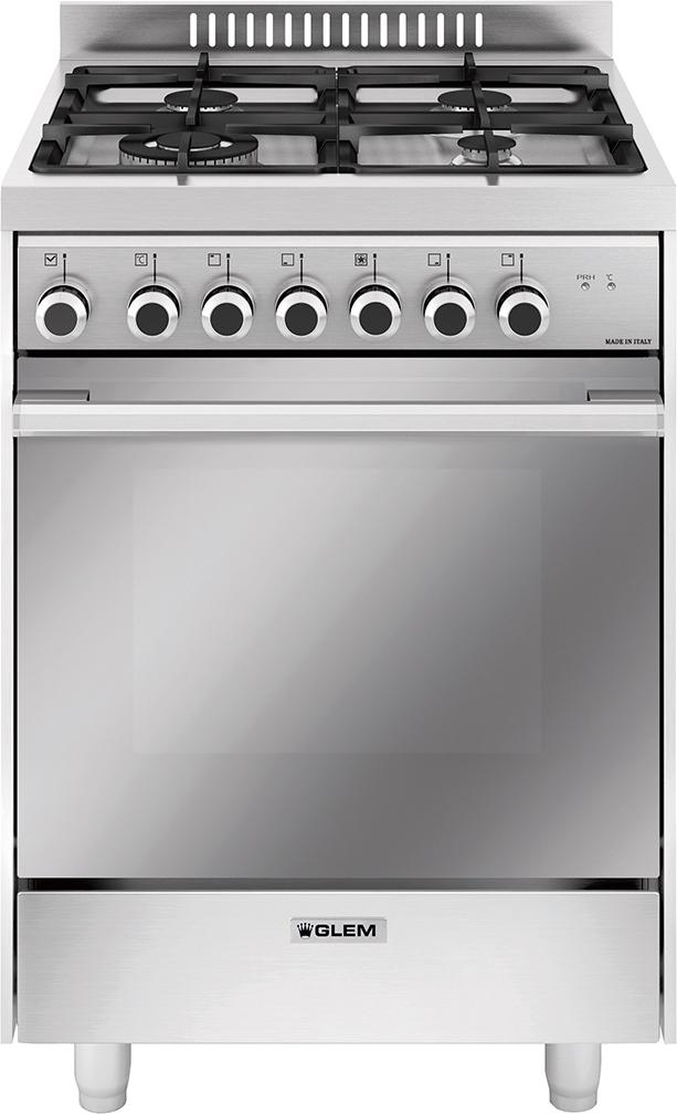 Cucina a gas glem gas m664mi forno elettrico ventilato 60x60 prezzoforte 34741 - Cucina con forno ventilato ...