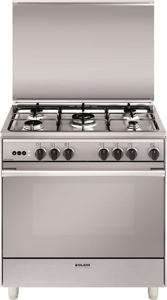 Cucina a gas glem gas u865vi forno a gas ventilato 80x60 - Larghezza cucina ...