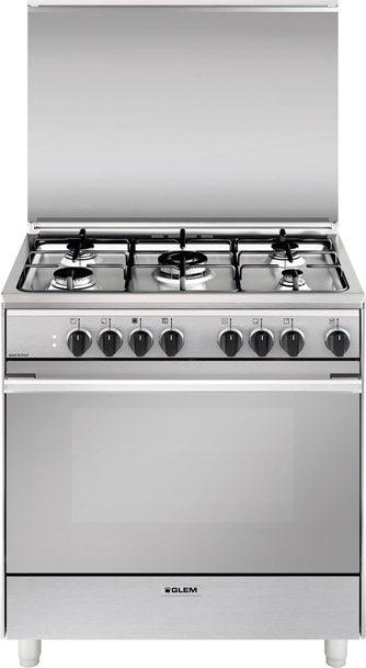 glem gas cucina a gas 5 fuochi 1 bruciatore wok fornoForCucina 80x60 Forno Elettrico