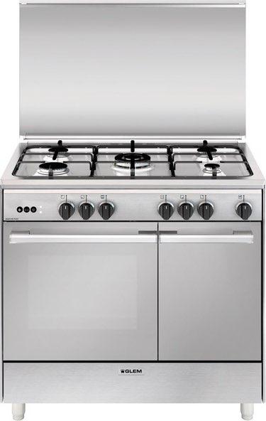 Cucina A Gas Glem Ur965vi 5 Fuochi Forno Gas Ventilato In Offerta Su Prezzoforte