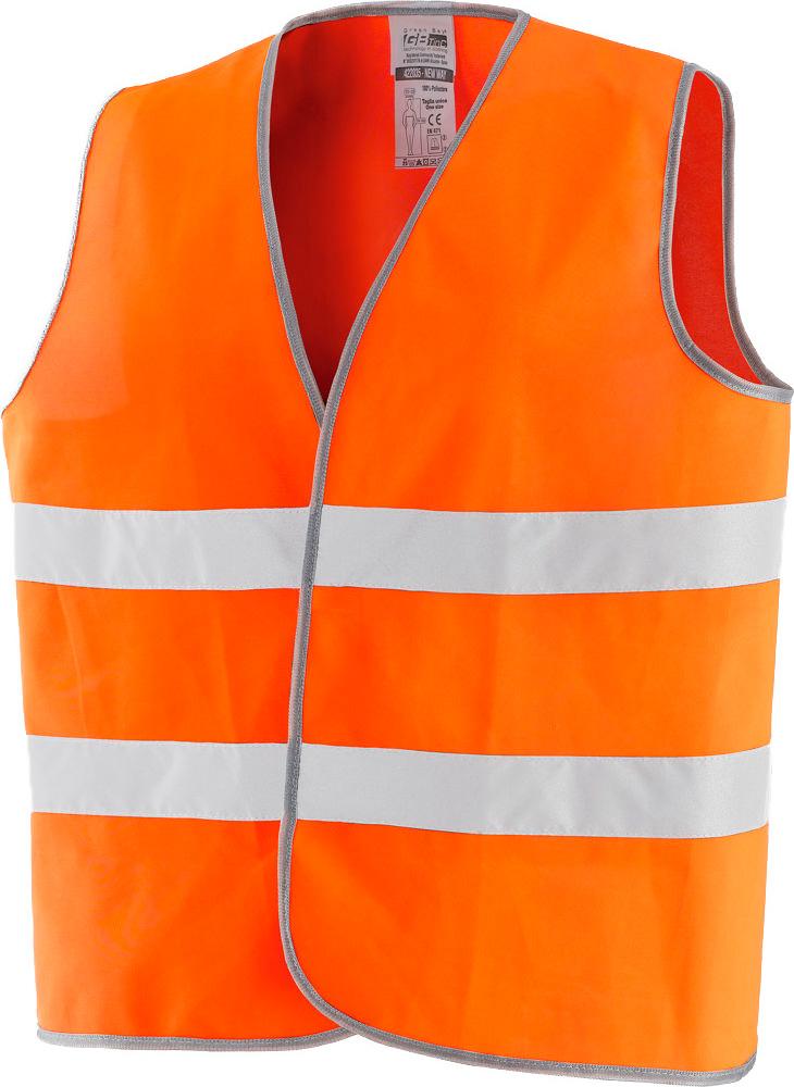 Greenbay Gilet Alta Visibilità Catarifrangente omologato colore Arancione 422035