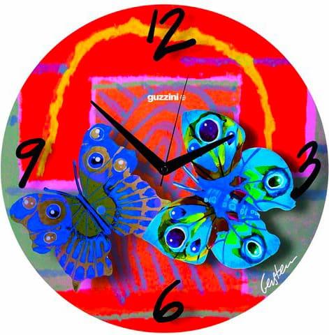 Guzzini Orologio da Parete ø 38 cm colore Rosso - 27270652 Volare