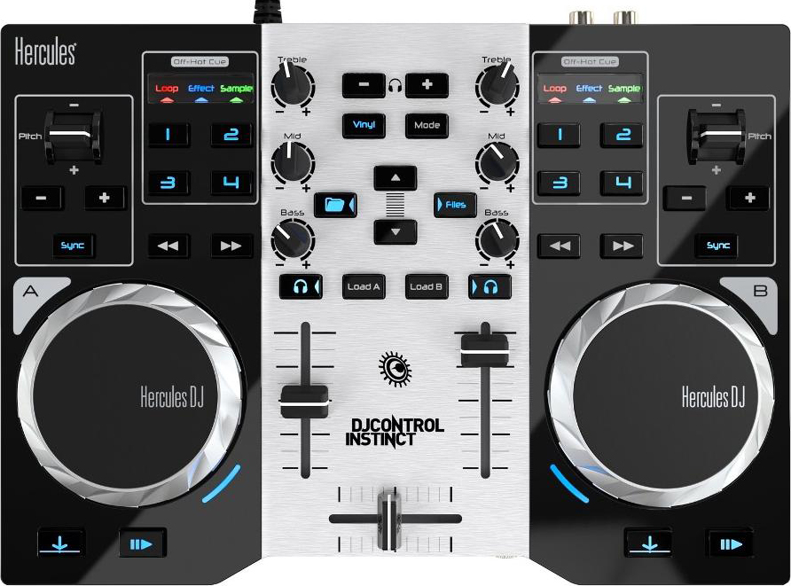 HERCULES 4780846 Mixer dj Audio Console USB 3.5 mm  DJControl Instinct Party Pack