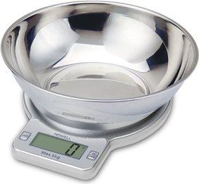 HOWELL HBC693 Bilancia Cucina Digitale Elettronica In Acciaio