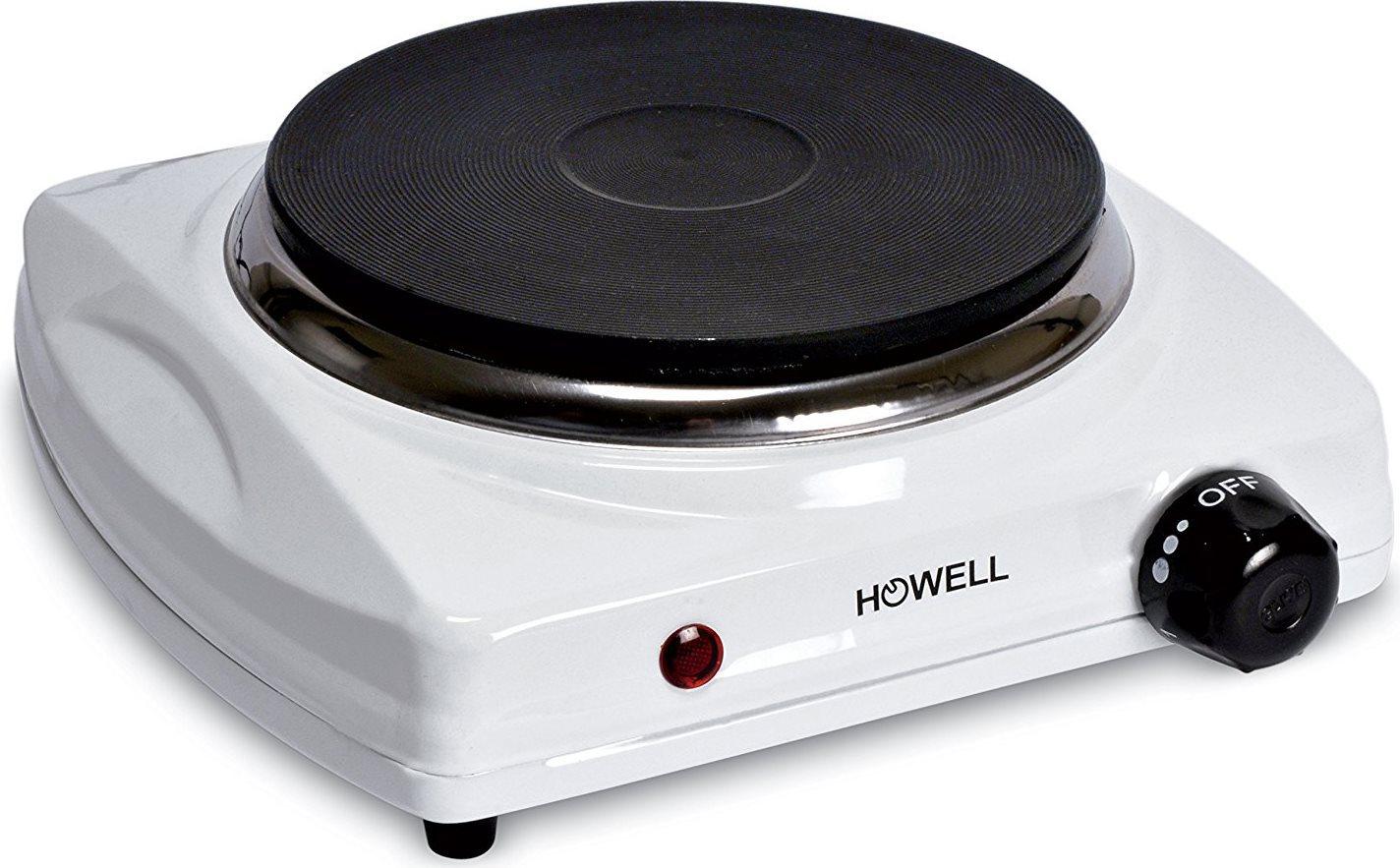 HOWELL Fornello Elettrico Campeggio 1 piastra 1000 W HPX161