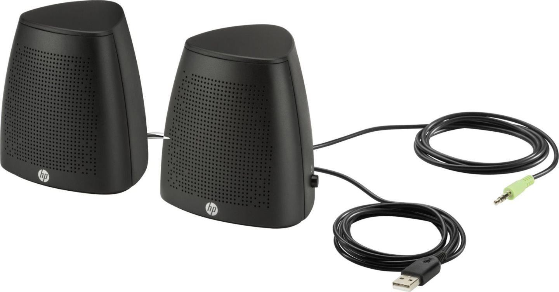 Hp casse per pc altoparlanti potenza 4 8watt usb aux jack 3 5 mm colore nero v3y47aa s3100 - Casse audio per casa ...