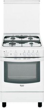 Hotpoint ariston cucina a gas 4 fuochi forno a gas larghezza x profondit 60x60 cm colore bianco - Cucina a gas ariston ...