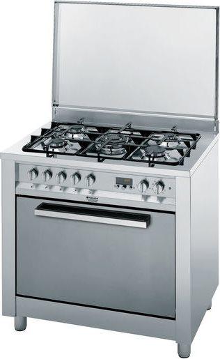 Hotpoint ariston cucina a gas 5 fuochi forno elettrico multifunzione ventilato con grill - Cucina con forno ventilato ...