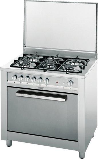 Hotpoint ariston cucina a gas 5 fuochi forno a gas con - Cucina a gas ariston ...