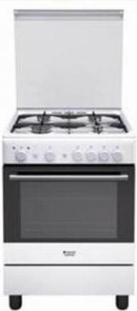 Cucina a Gas 4 Fuochi Forno a Gas Larghezza x Profondità 60x60 cm Classe  energetica A con Coperchio colore Bianco - H6GG1F (W) IT
