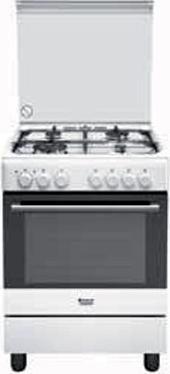 Cucina A Gas Hotpoint Ariston H6Tmh2Af (W) It Forno Elettrico ...