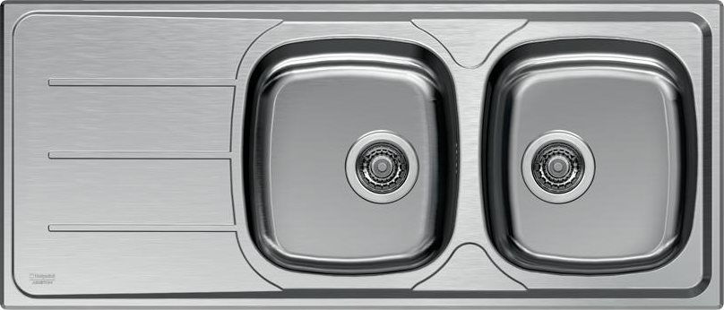 lavello cucina ariston hotpoint sn 116m2s x ha 2 vasche inox