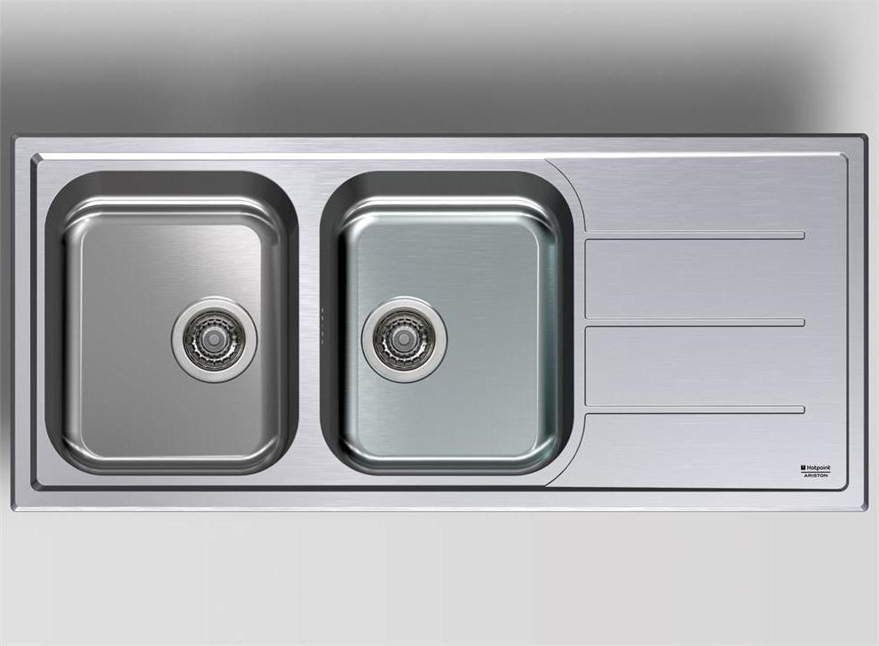Lavello cucina ariston hotpoint sc 116w2 x ha 2 vasche - Lavello cucina incasso ...