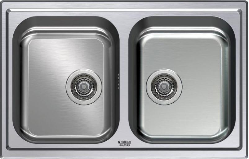Lavello Cucina Ariston Hotpoint SC 79W2 X HA 2 Vasche Inox ...