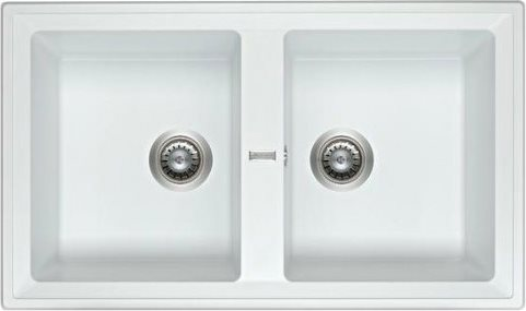 Lavello Cucina A Incasso.Hotpoint Ariston Lavello Cucina 2 Vasche Incasso Larghezza 86 Cm