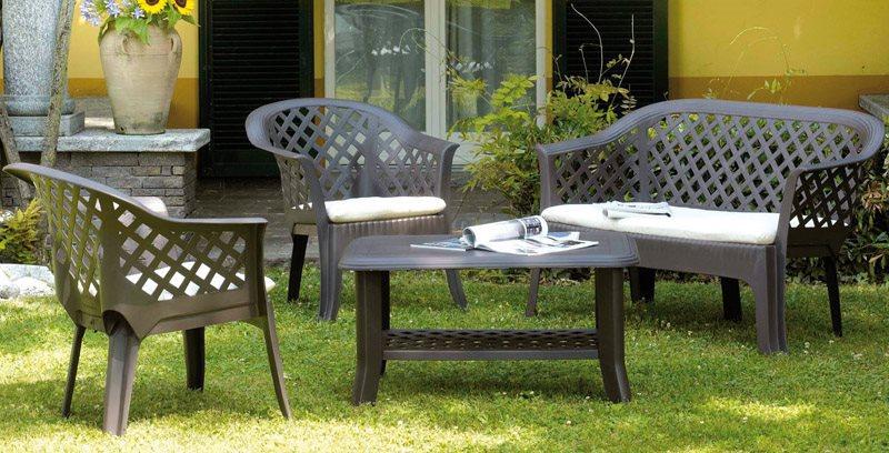 Divani Per Esterni In Plastica : Set da giardino salotto progarden 00231 offerte arredo giardino e