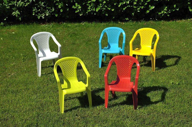 Sedia da giardino senza braccioli marrone modello indy