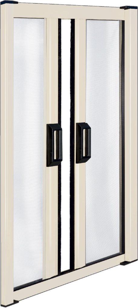 Irs zanzariera a rullo orizzontale a due ante per porta alluminio colore avorio ral 1013 cm - Zanzariera a rullo per porta finestra ...