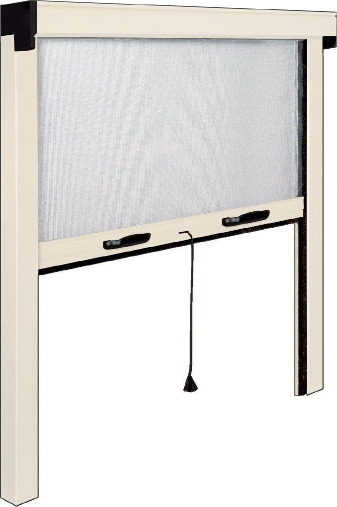 Irs zanzariera a rullo verticale per finestra alluminio for Finestra scorrevole verticale
