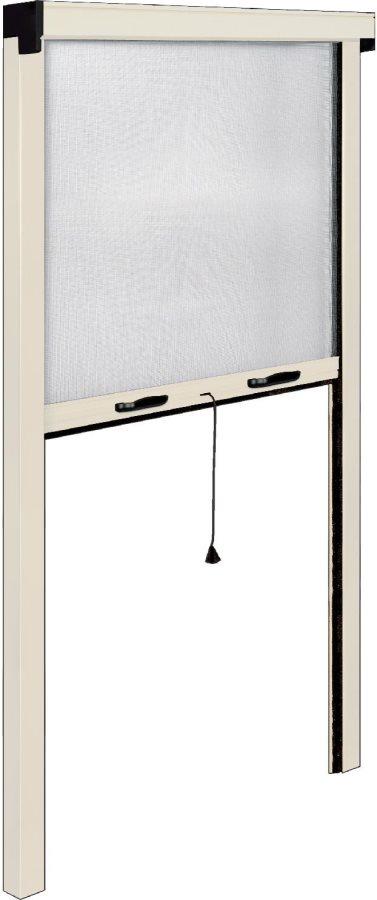 Irs zanzariera a rullo verticale per porta alluminio colore avorio ral 1013 cm 100x250 sottile - Zanzariera a rullo per porta finestra ...