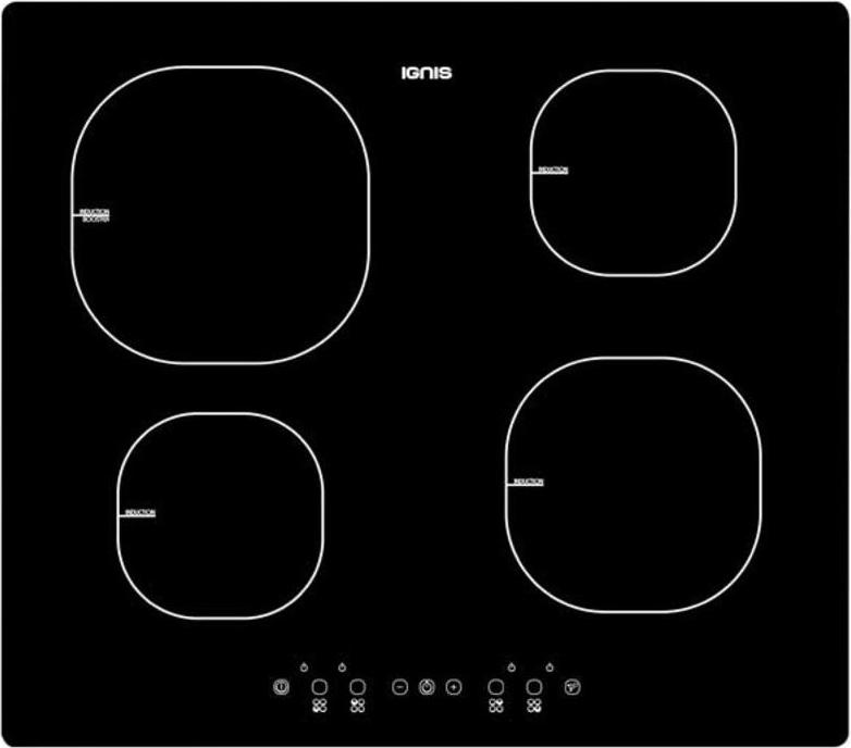 piano cottura induzione ignis 4 fuochi 60 cm aks 818 ne