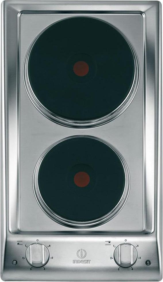 Piano Cottura Indesit Elettrico 2 Fuochi 30 cm DP 2E IX Serie Prime ...