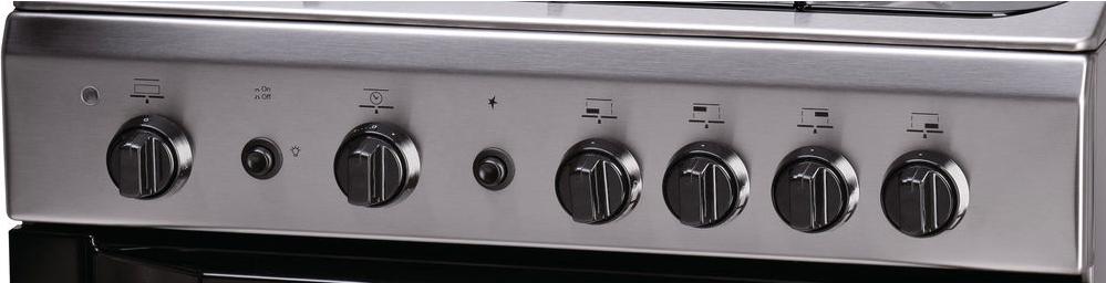 //I Cucina a Gas 4 Fuochi Indesit con Forno a Gas Grill 60x60 cm Inox I6GG1F X
