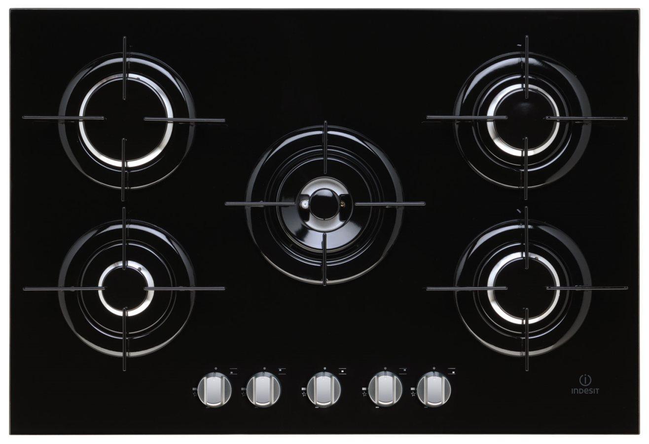 Piano cottura 5 fuochi indesit gas 75 cm ipg 751 s bk for Nuovi piani domestici e prezzi